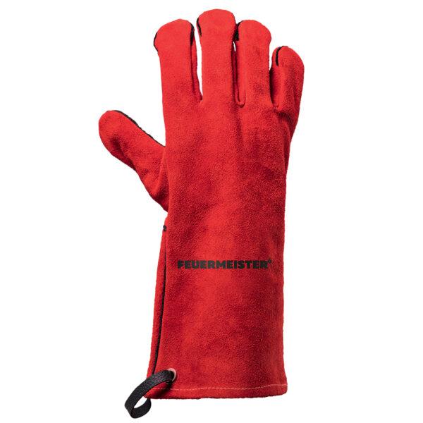Grillhandschuhe FEUERMEISTER® Spaltleder rot (Paar)